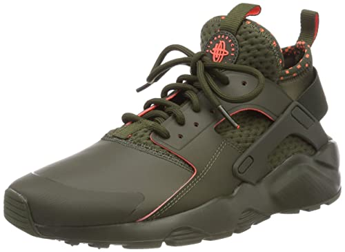 a3b3f147fa38 Nike Men s Air Huarache Run Ultra SE Cargo Khaki Total Crimson Running Shoe  10 Men