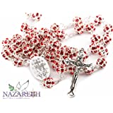 Amazon Price History for:Red Zircon Crystals Beads Rosary Catholic Necklace Miraculous Medal & Crucifix