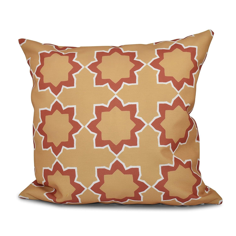 Geometric Print Pillow 18x18 Yellow E by design PGN551YE6OR2-18 18 x 18-inch Bohemian 2