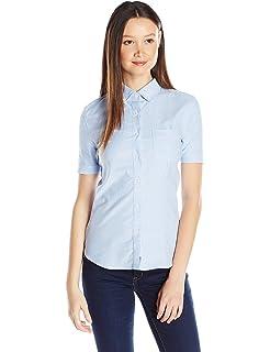 9f53b754 Lee Uniforms Juniors' Long-Sleeve Oxford Blouse at Amazon Women's ...