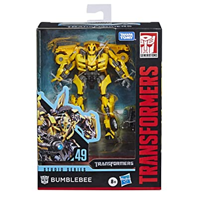 """Transformers Toys Studio Series 49 Deluxe Class Movie 1 Bumblebee Action Figure - Kids Ages 8 & Up, 4.5"""": Toys & Games"""