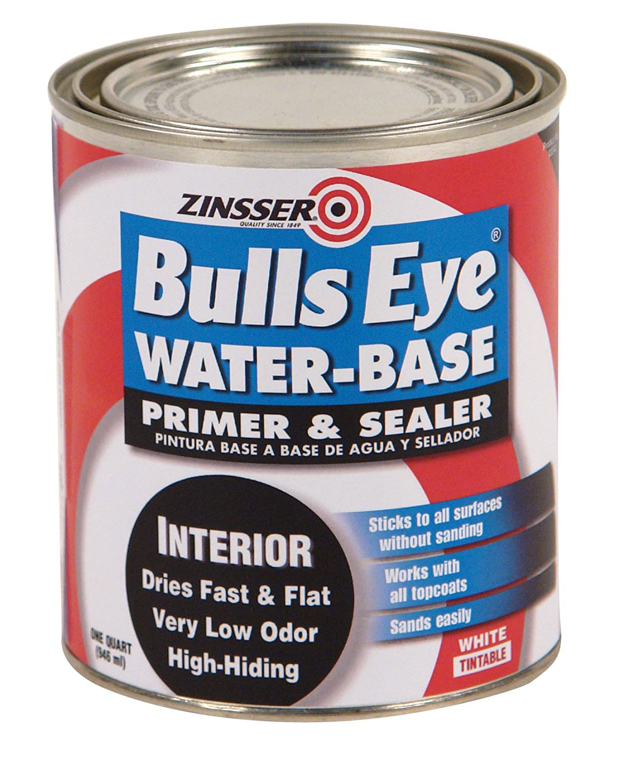Rust Oleum Zinsser 7594 1 Quart Bulls Eye Water Base Polyurethane Water Base Satin