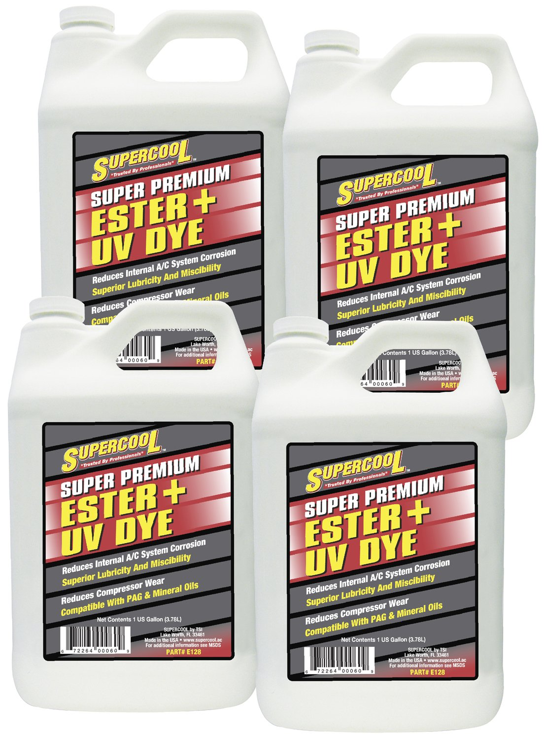 TSI Supercool E128-4CP Ester Oil Plus U/V Dye - 1 gallon, 4 Pack by TSI Supercool