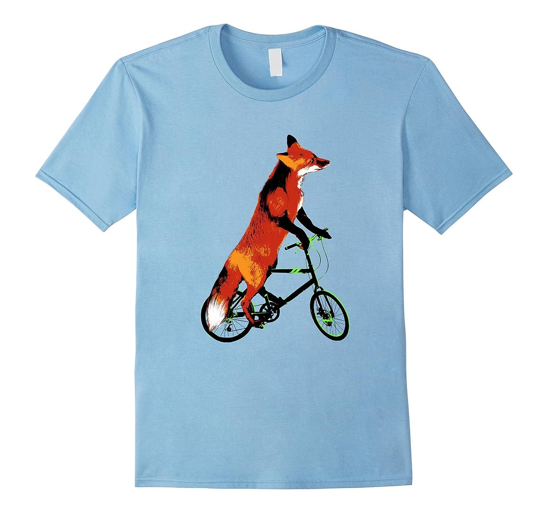 Fox Riding a Bicycle T-Shirt – Funny Bike Tee Shirt