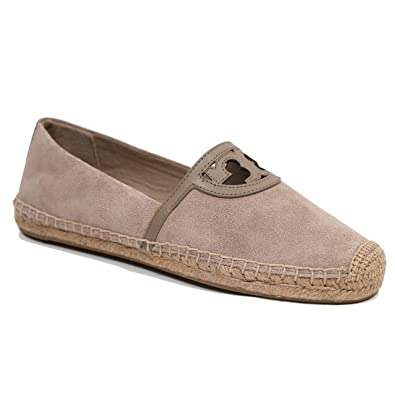 5a8652fe4d2e Tory Burch Sidney Espadrille Suede Flat Leather Sandals (8.5