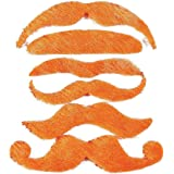 12 Synthetic Mustache Assortment - Costume Moustache (Orange) by OTC