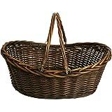 "Wald Imports Brown Willow 19.5"" Decorative Storage Basket"