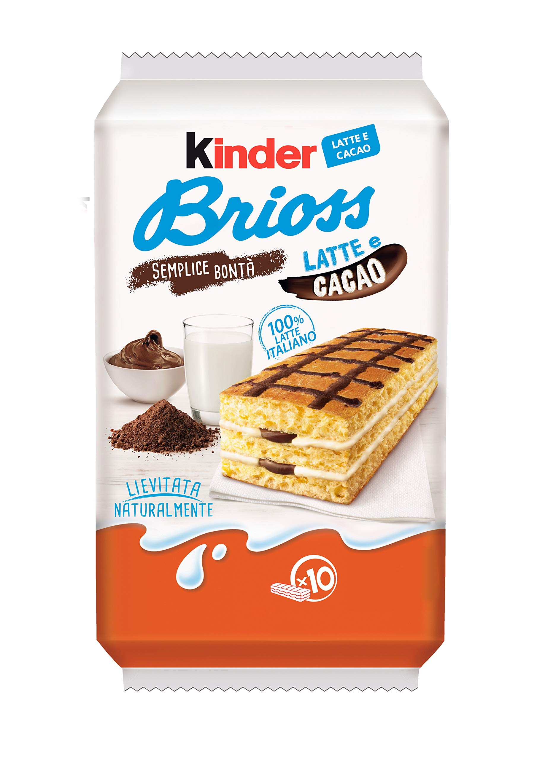 KINDER BRIOSS LATTE E CACAO From Italy 10 Pieces