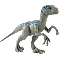 "Mattel Jurassic World Figura Básica Velociraptor Blue, 12"""