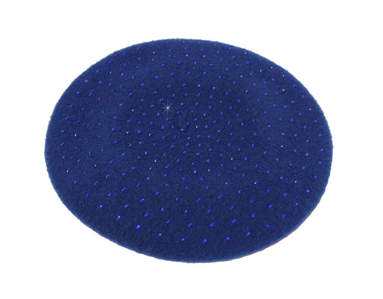 Wool Felt Studded Beanie Beret C62-4 Colors