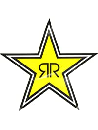 Factory Effex 15-94730 Yellow 1' (Rockstar Text Logo) Die-Cut Sticker