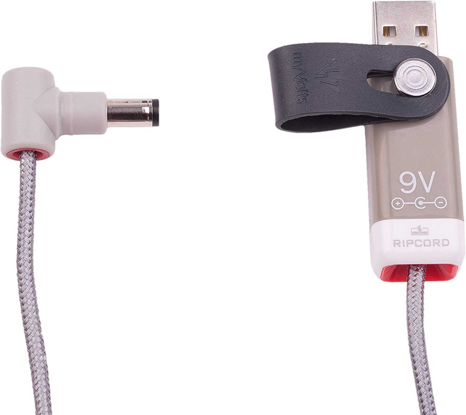 myVolts Ripcord USB to 9V DC Power Cable Compatible with The Brother PT-2730VP Label Printer