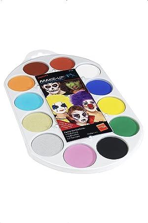 Smiffys-39145 Maquillaje FX Smiffy Pallet, Aqua, pintura facial y de cuerpo, 12 colores, inclu, multicolor, No es applicable (Smiffys 39145) , color/modelo surtido: Amazon.es: Juguetes y juegos