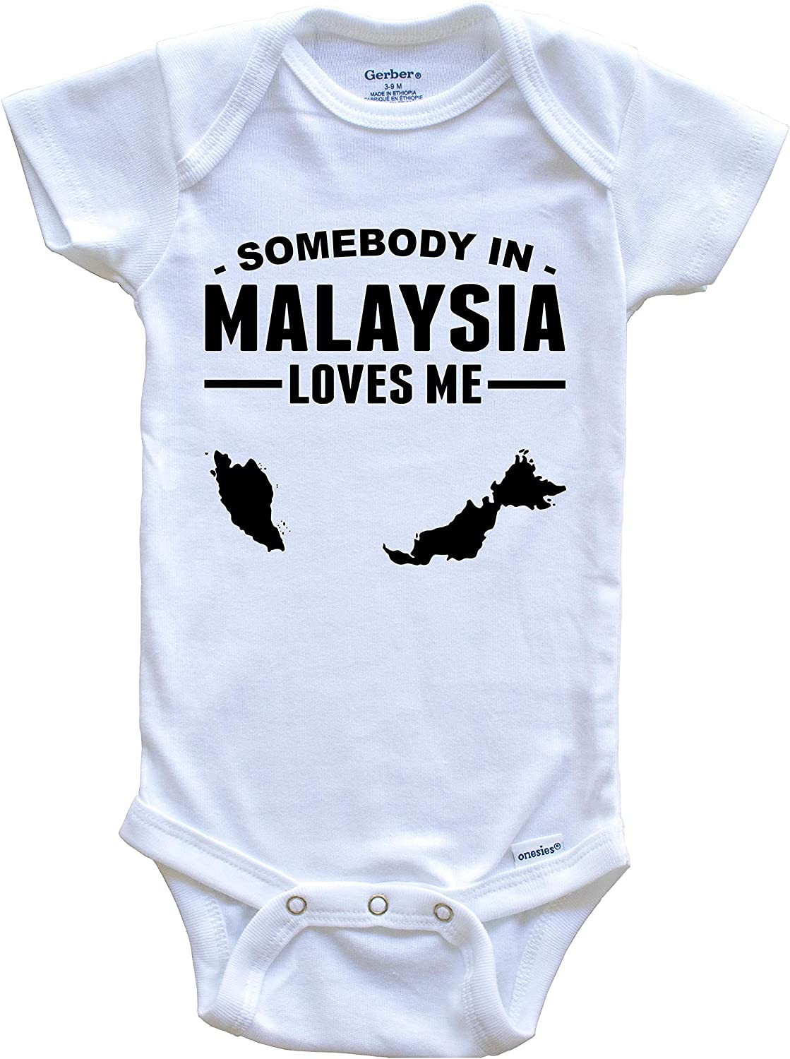 Somebody in Malaysia Loves Me Baby Onesie