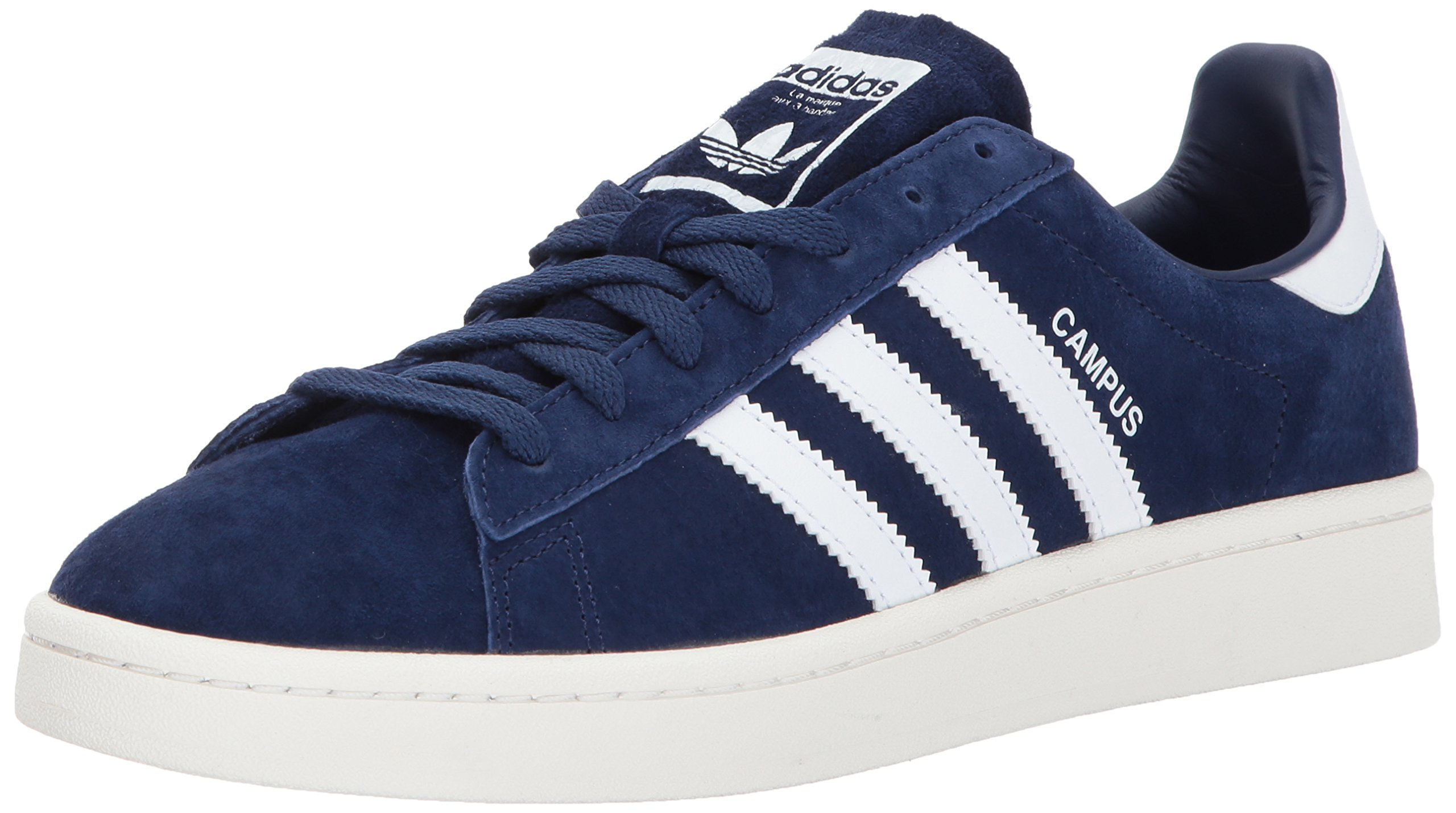 adidas Originals Men's Campus Sneakers, Dark Blue/White/Chalk White, (10 M US)