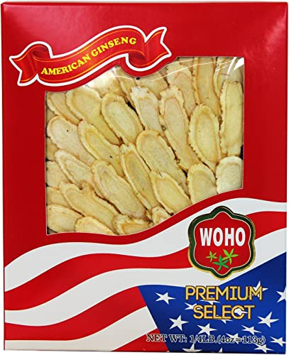 WOHO 127.4 American Ginseng Slice Large 4oz Box
