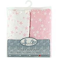 Paquete de 2 sábanas bajeras de moisés ajustables
