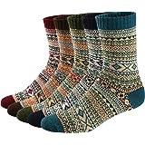 Calcetines de Lana Calientes Para Otoño e Invierno Estilo Vintage Hombre / Mujer 5 pares