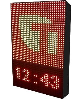 Rótulo LED programable para Autoescuelas (64x80 cm Doble ...