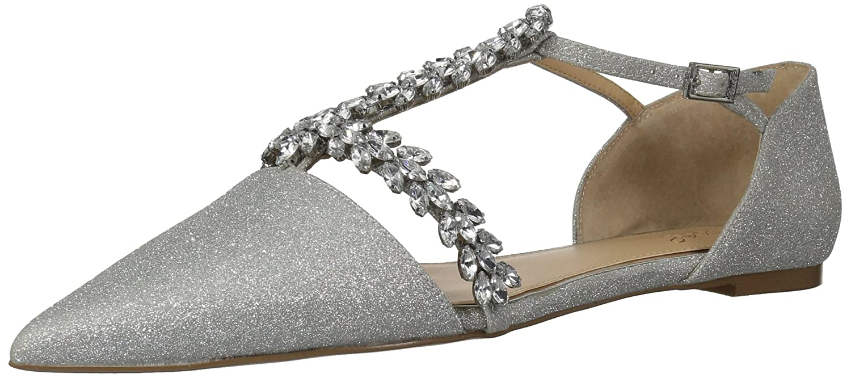 Badgley Mischka 10 Jewel Women's Maury Mary Jane Flat B07864V3GR 10 Mischka B(M) US|Silver Glitter 0e8546
