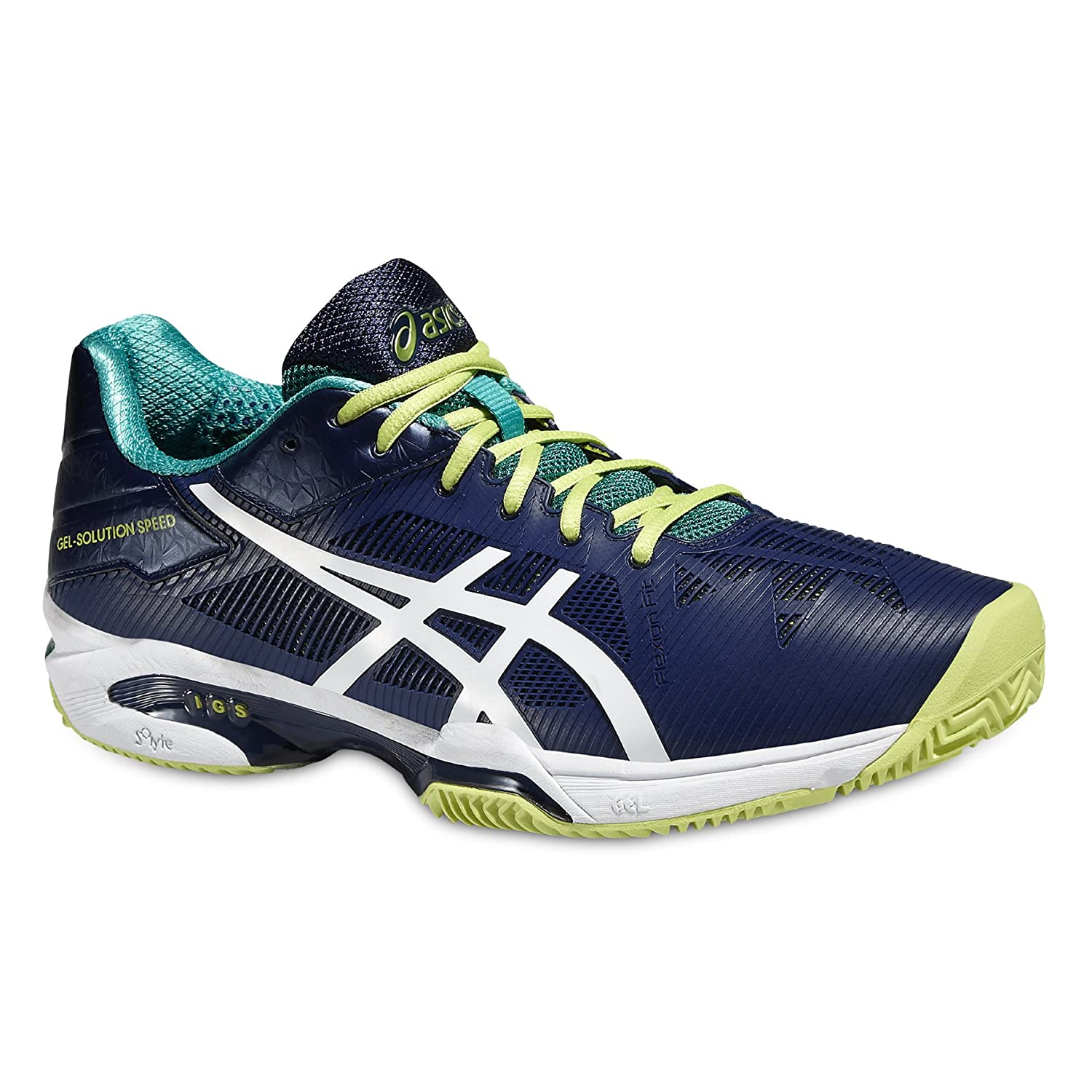 ASICS Gel-Solution Speed 2 Clay Mens Tennis Shoes E601N Sneakers Trainers B018J7196O 10.5 D(M) US|Indigo Blue White 5001