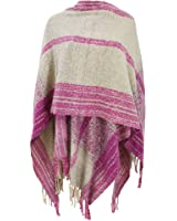 Womens/Ladies Plaid Pattern Winter Wrap With Fringe