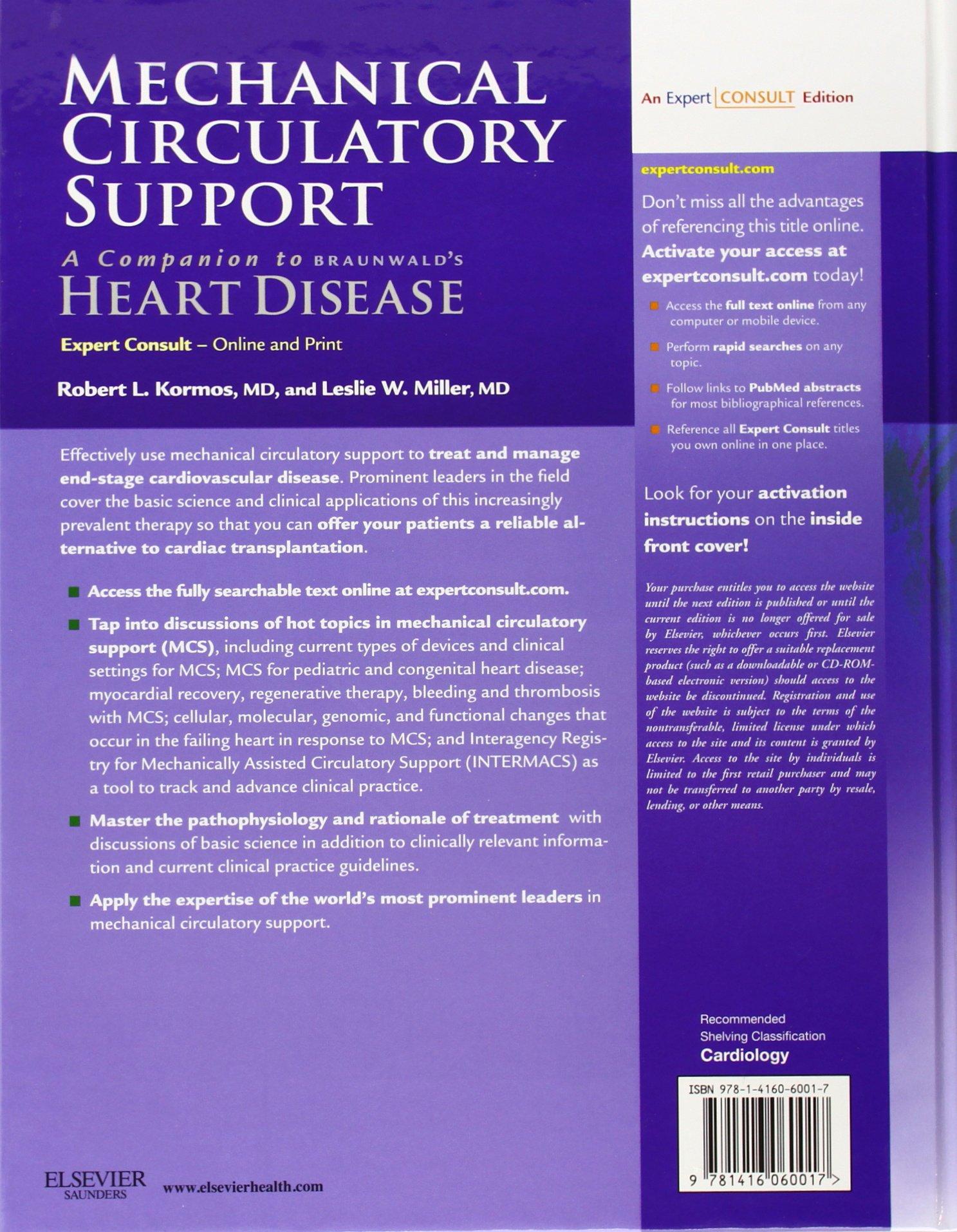 mechanical circulatory support a companion to braunwalds heart disease pdf