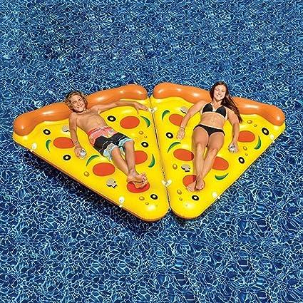 DMGF Inflables Pool Float Raft Pizza Shape Loungers Giant Summer Flotadores De Natación Al Aire Libre