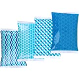 Thrive Ice Pack for Lunch Boxes - 4 Reusable Packs - Keeps Food Cold – Cool Print Bag Designs - Great for Kids or Adults…