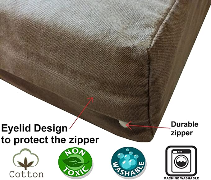 Remarkable Dogbed4Less Diy Durable Brown Denim Pet Bed External Duvet Cover And Waterproof Internal Case For Small Medium To Extra Large Dog Covers Only Evergreenethics Interior Chair Design Evergreenethicsorg