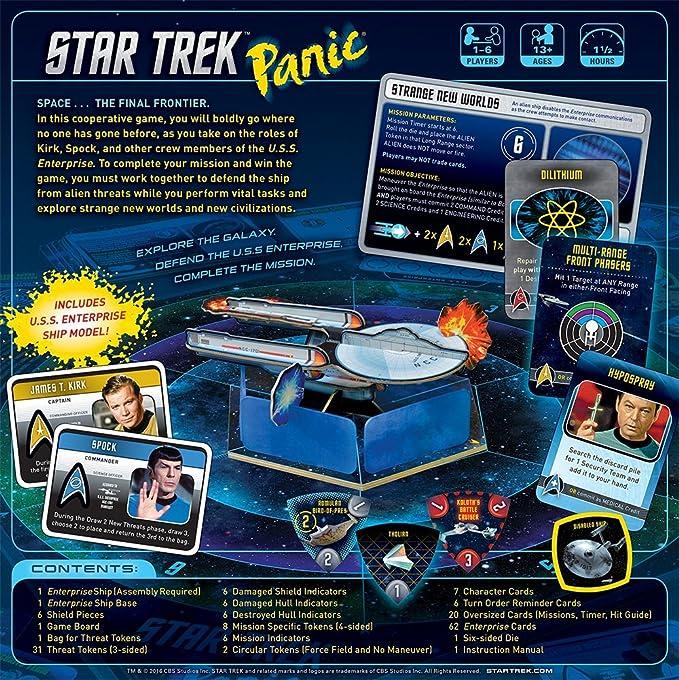 amazon com star trek panic board game cards toys games rh amazon com USS Enterprise CVN-65 Enterprise Ship
