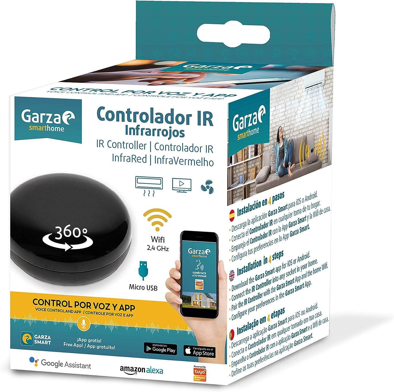 Garza Smarthome - Controlador IR Infrarrojos WiFi Inteligente, programable, Control por Voz y App, Alexa, iOS, Google, Android: Amazon.es: Electrónica
