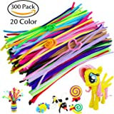 Acerich 300 Pcs Assorted Colors Pipe Cleaners DIY Art Craft Decorations Chenille Stems (6 mm x 12 Inch)