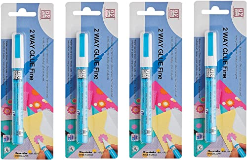 Zig Memory System Two Way Glue Pen, Carded, Fine Tip F ur Pa k