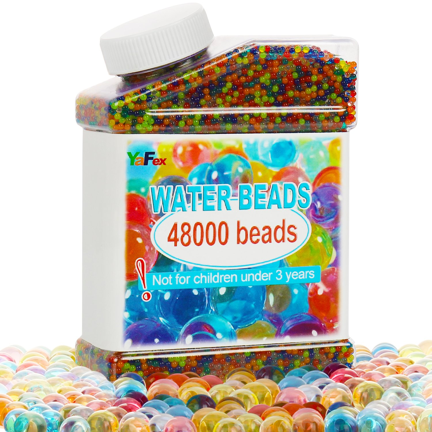 Shop amazon vase fillers water beads 48000 beads rainbow mix for crystal water gel balls reviewsmspy