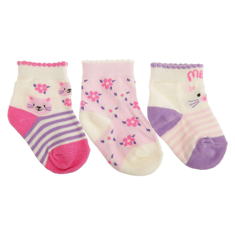 Lot de 3 Universal Textiles Assortiment de chaussettes en coton /à motif animal B/éb/é fille