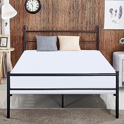 Amazon.com: VECELO Reinforced Metal Bed Frame Full Size, Platform ...