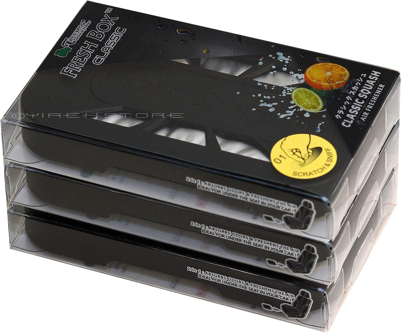 3-Pack Treefrog Fresh Box Classic Black Classic Squash Scent Air Freshener / Air Freshener Refill Cartridge