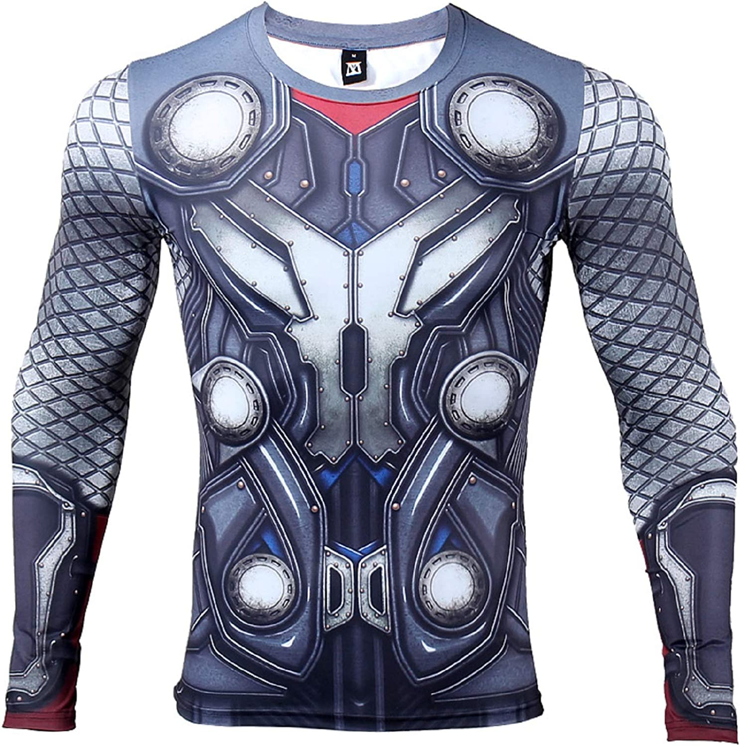 Long Sleeve Thor Compression Shirt Mens Fitness Tops 3D Printed T Shirt