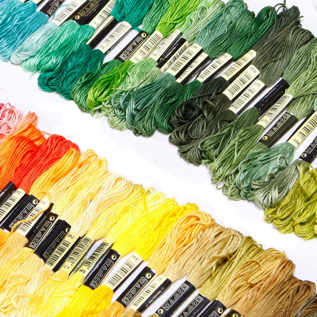 7,6-8 Meter mehrfarbig CXC Kreuzgarn Akord 150 Str/änge 100/% Baumwolle