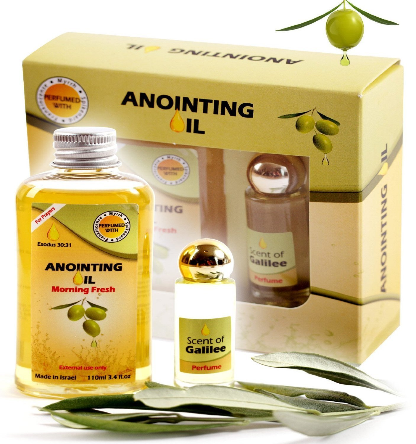 Aya Natural Anointing Oil From Israel - Vegan Holy Oil Blend of  Frankincense and Myrrh Oil & Spikenard