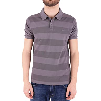 WOOLRICH Polo UOMO Striped Steel Grey: Amazon.es: Ropa y accesorios