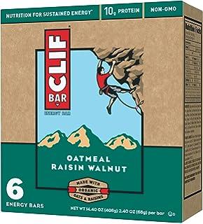 CLIF BAR - Energy Bar - Oatmeal Raisin Walnut - (2.4 Ounce Protein Bar, 6 Count)