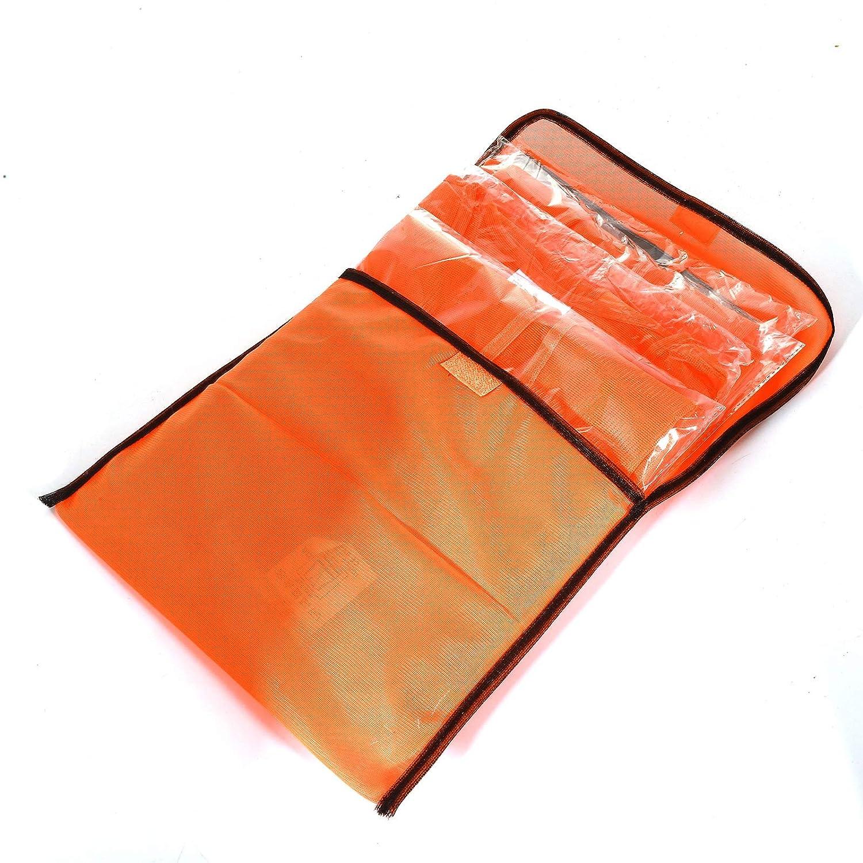360 Grad Reflektierende Schutz Weste Prowiste/® 50 Warnwesten Sicherheitsweste Set Warnweste ORANGE Waschbar