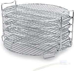 Prime Dehydrator Stand Accessories Compatible with Ninja Foodi Pressure Cooker Air Fryer 6.5 qt & 8 qt, Five Stackable Layers Food Grade Stainless Steel