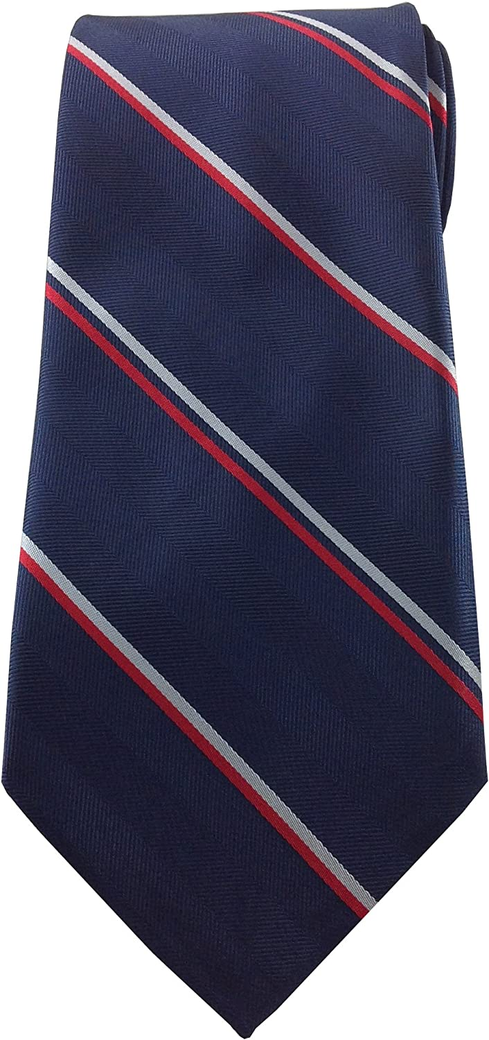 Mens Necktie Blue With Silver And Red Simple Pinstripe Design Tie At Amazon Men S Clothing Store