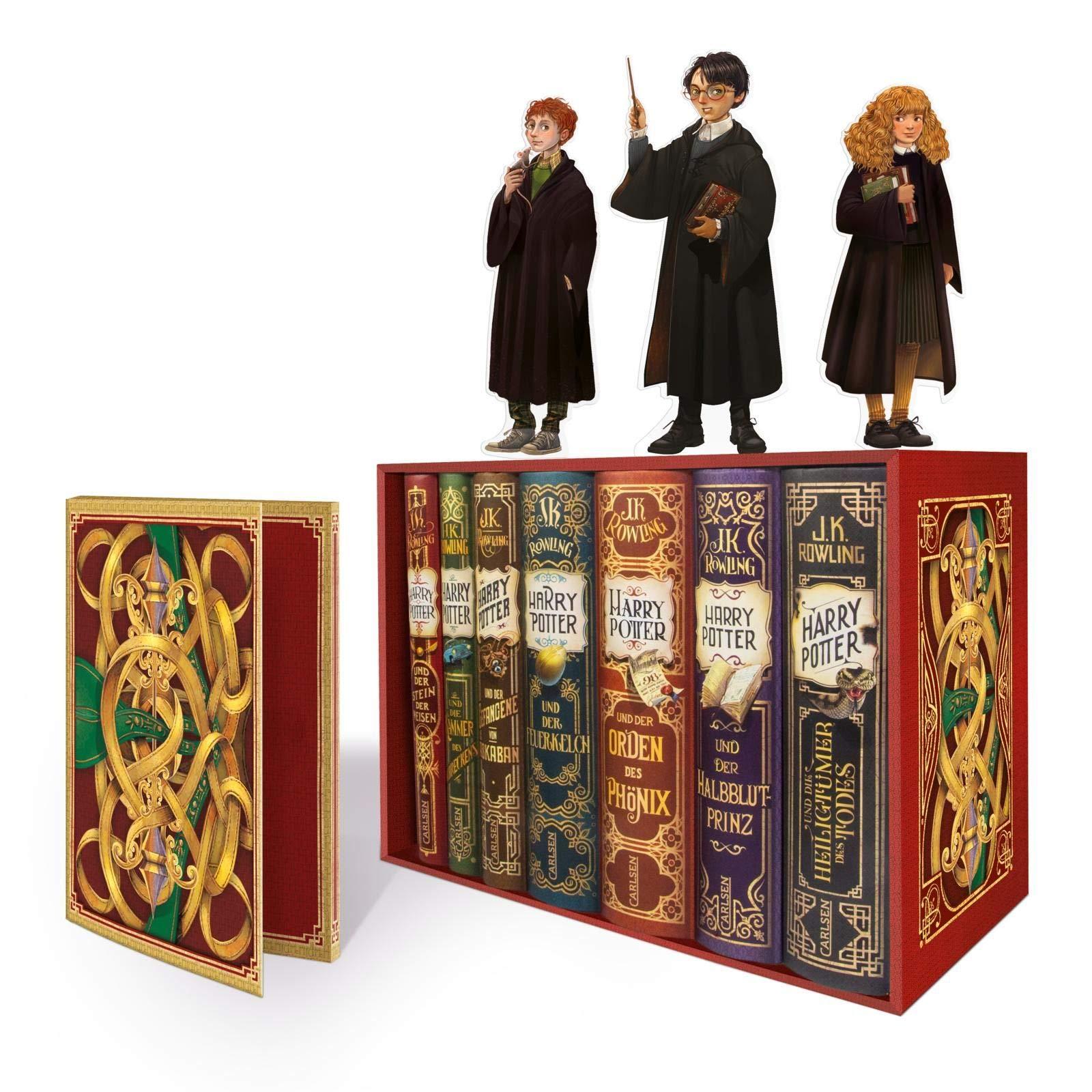 Harry Potter Band 1 7 Im Schuber Mit Exklusivem Extra Harry Potter Rowling J K 9783551557407 Amazon Com Books