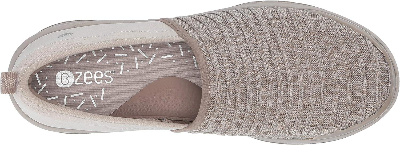 BZees Women's Glee Sneaker Mushroom Ribbed Knit