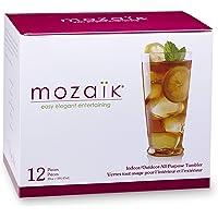 Mozaik Premium Plastic 15 oz. All Purpose Tumblers, 12 count