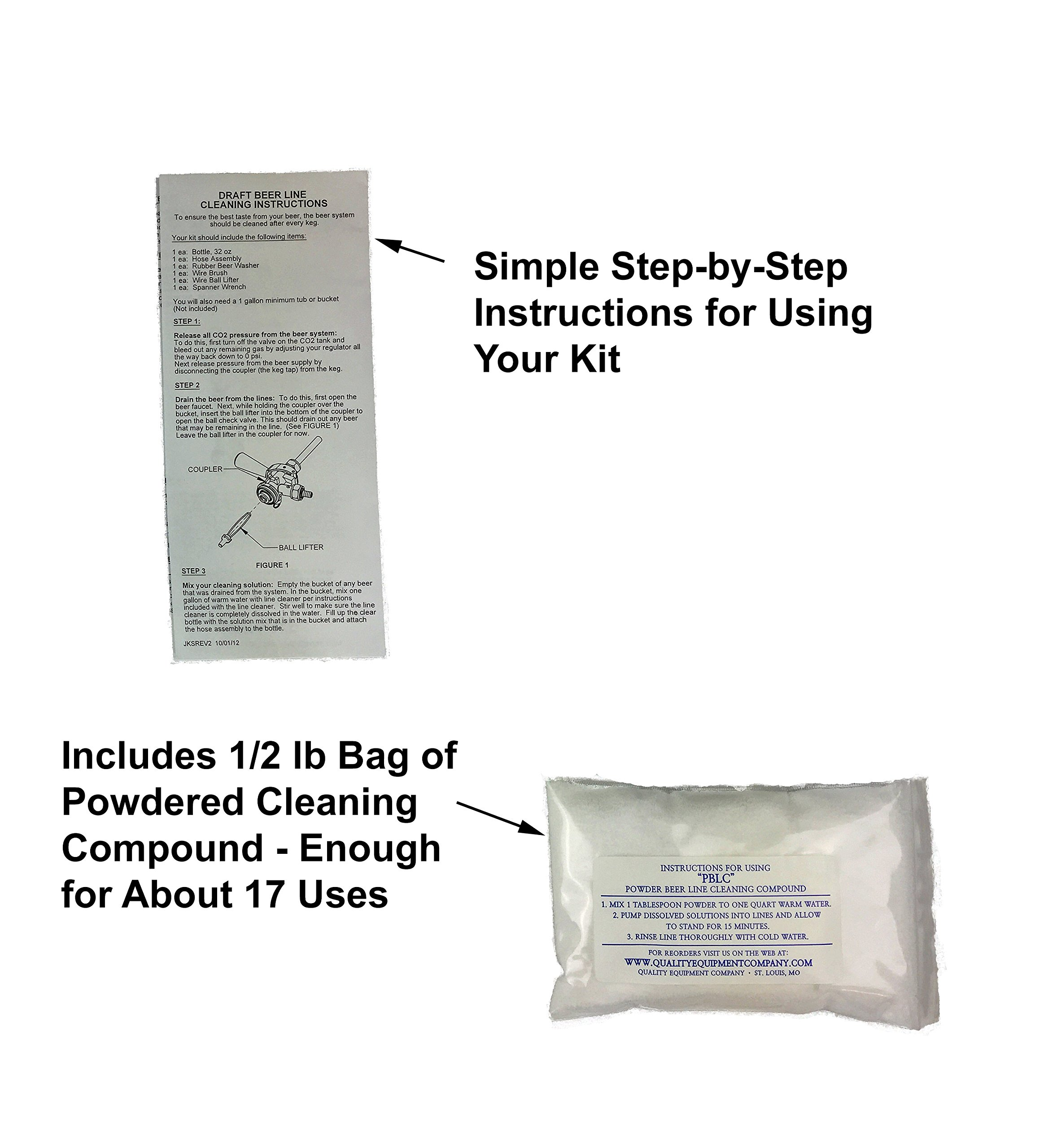 Kegerator Beer Line Cleaning Kit - All Necessary Cleaning Accessories and Powder Cleaning Compound by Right Dynamics (Image #4)